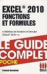 Excel 2010 : Fonctions et formules