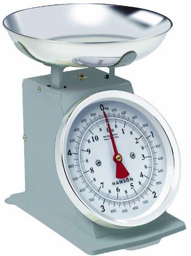 Hanson H500 Balance culinaire traditionnelle avec bol en acier inoxydable Argenté 5kg