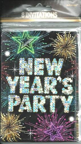 Midnight Marquee Party Invitations New Years Celebrations Holiday Envelopes 8 Ct