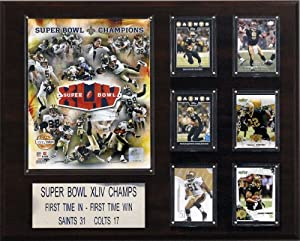 NFL 16 x 20 in. New Orleans Saints Super Bowl XLIV Champions Plaque by C&I Collectables