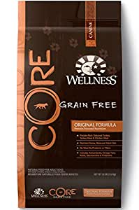 Wellness CORE Natural Grain Free Dry Dog Food, Original Turkey & Chicken Recipe, 26-Pound Bag