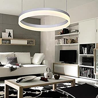 moderne vertraglich kreis ring led pendelleuchte mit 100. Black Bedroom Furniture Sets. Home Design Ideas