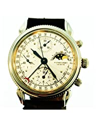 Vintage/Antique watch: Picard Cadet Geneve Coin Case, Moonphase, Chronograph, Stainless Steel, Automatic, Day, Date