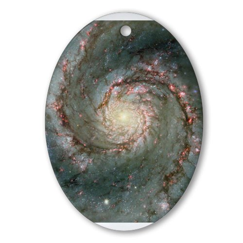CafePress-M51-Whirlpool-Galaxy-Astronomy-Christmas-Ornament-Oval-Holiday-Christmas-Ornament