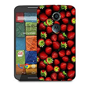 Snoogg Strawberries Designer Protective Phone Back Case Cover For Moto X 2nd Generation
