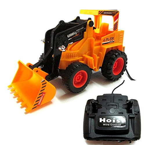 Roadster Wired Remote Control Battery Operated JCB Crane Truck Toy
