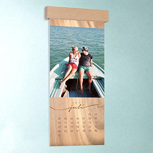 k chen kalender mit foto gestalten jahresringe wandkalender 148x360 mit edler holzblende. Black Bedroom Furniture Sets. Home Design Ideas