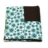 Kali & Co. Blue Daisy Cotton Dog Blanket - Large