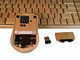 Natural Bamboo, Wireless, Full-Size Keyboard & Mouse Combo