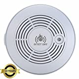 ADVANCED 10 Year Battery Carbon Monoxide Smoke Fire Detector combo. Cutting-Edge PhotoElectric Plus ElectroChemical Sensor Detects Tiniest Gas Leak FASTER. 85dB Alarm that Warns all to Get to Safety