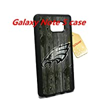 Philadelphia Eagles Samsung Galaxy Note 5 TPU Rubber Case Cover--with Tempered Glass Screen Protector