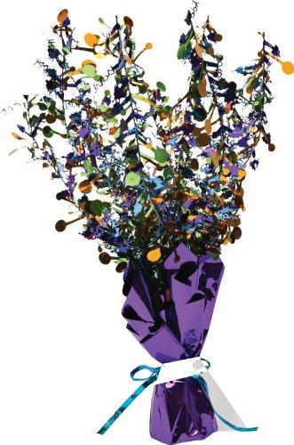 Creative Converting Bright and Bold Happy Birthday Foil Spray Centerpiece, Mini - 1