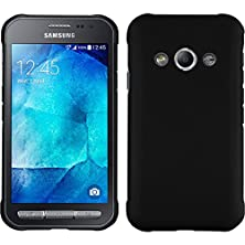 buy Hardcase For Samsung Galaxy Xcover 3 - Rubberized Black - Cover Phonenatic + Protective Foils