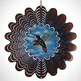 Iron Stop Hummingbird Animated Wind Spinner  DA25010