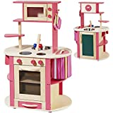 Deluxe Wooden toy play kitchen