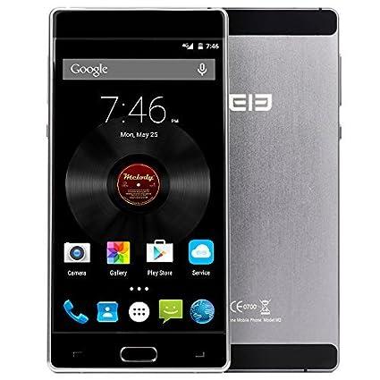 "Elephone M2 - 4G Smartphone 3GB RAM 32GB ROM, Android 5.1 OS, Octa Core 64 bits, 5,5"" FHD écran, 5MP 13МP caméras doubles, Touch ID hors écran réveiller corps métallique"