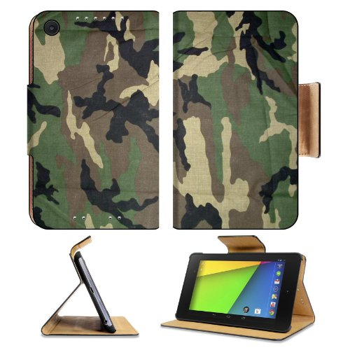 Military Army Camouflage Asus Google Nexus 7 FHD II 2nd Generation Flip Case Stand Magnetic Cover Open Ports Customized Made to Order Support Ready Premium Deluxe Pu Leather 8 1/4 Inch (210mm) X 5 1/2 Inch (120mm) X 11/16 Inch (17mm) msd Nexus 7 Profe
