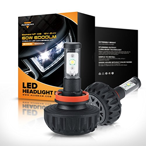 Auxbeam NF-03 H11 LED Headlight Bulbs Conversion Kit with 2 Pcs of Headlight Bulbs 40W 4400lm CREE LED Chips Fog Light (Led H11 Headlight Bulb 20w compare prices)