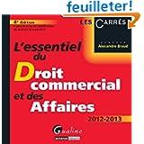 L'essentiel du Droit commercial et des Affaires 2012-2013