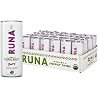 24-Pack RUNA Organic Clean Energy Drink from the Guayusa Leaf, Berry