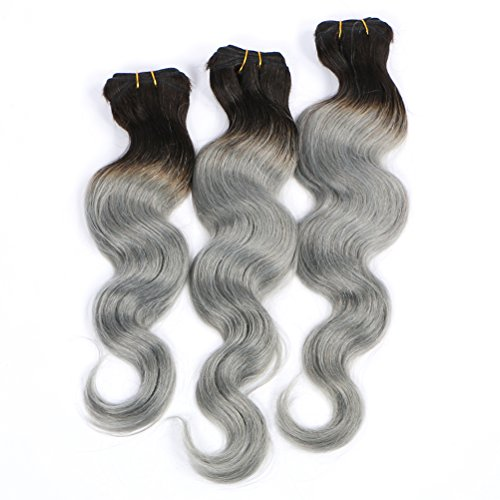 Hot-Queen-Brazilian-Virgin-Ombre-Human-Hair-Weave-1b-Grey-Body-Wave-Human-Hair-Extensions-3-Bundleslot-300g