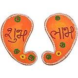 999Store Handmade Multicolour Wooden Shubh Labh Diwali Door Hanging Mango