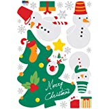 Easy Instant Decoration Wall Sticker Decal - Merry Christmas with Snowman