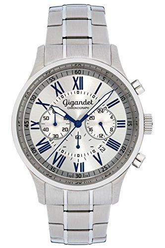 Gigandet VERNISSAGE Orologio Uomo Cronografo Analogico Quarzo Argento G47-005