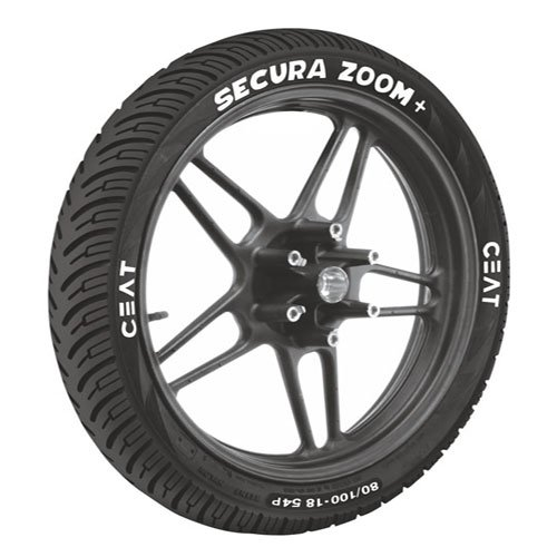 Ceat Secura Zoom Plus P80/100 - 18 Tubeless Bike Tyre, Rear (Home Delivery)