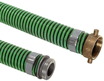 Unisource 1400 PVC Suction/Discharge Hose Assembly, MPT x NPSM Female Swivel Connection