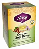 Yogi Green Tea Goji Berry, Herbal Tea Supplement, 16-Count Tea Bags (Pack of 6)