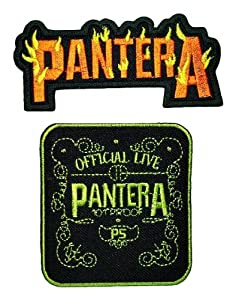PANTERA Music Songs Rock Band Rocker Heavy Metal Thrash Power Doom Polo Tour Shirt MP001 Embroidered Sew or Iron on Patches (Lot 2 pcs)
