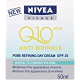 NIVEA Q10 Plus Anti-Wrinkle Pore Refining Day Cream SPF 15 - 50 ml