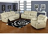 3pc Modern Reclining Leather Sofa Set #AC-ALLEN