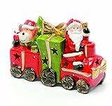 Festive-18cm-Ceramic-Glazed-Finish-Santa-And-Reindeer-Train-With-Led-Light-Change-Inside