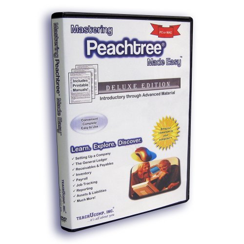 Mastering Peachtree Made Easy Training Tutorial v. 2012, 2011, 2010 - Learn how to use Peachtree e Book manual guide. Even dummies can learn from this step-by-step DVD-ROM video with Introductory through Advanced material from Professor Joe