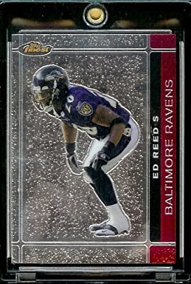 2007 Topps Finest # 100 Ed Reed - Baltimore Ravens - Premium NFL Trading Football Card