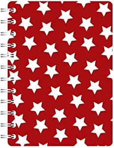 Go Stationery A5 Notebook Red Stars