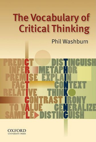 The Vocabulary of Critical Thinking