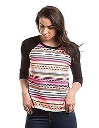 Prym Women's Body Blouse Shirt (1011517201_Pink Mix_Medium)