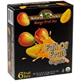 Natural Choice Foods Organic Frozen Mango Fruit Bars,6-Count, 16.5-Ounce Boxes (Pack of 3) ~ Natural Choice Foods
