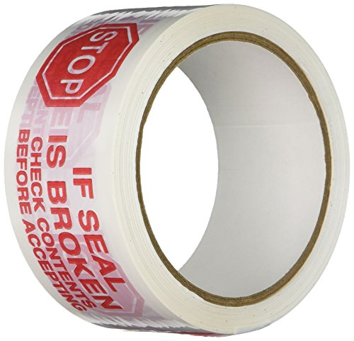 TapeCase Printed White Carton Sealing Tape with Red Lettering -