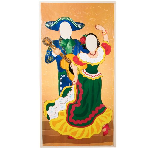 Cheap 3' FT X 6' FT Fiesta Couple Photo Door Banner