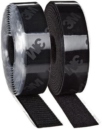 3M Fastener TB3546/TB3547 Hook/Loop Black, 1 in (25.4mm) x 10 ft (3.05m) (1 Mated Strip/Bag)