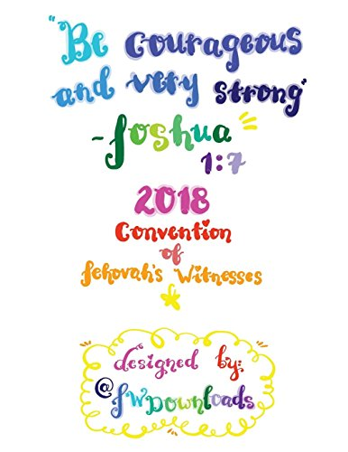 Image for Be Courageous 2018 Convention of Jehovah's Witnesses Workbook for Teens