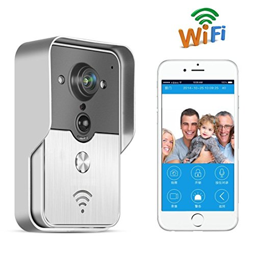 Toguard Wireless Video doorbell Intercom WIFI, PIR Motion activated,Waterproof,Support android/IOS APP,unlock by phone (WR230)...