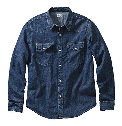 Lee - Camicia casual Classico, Uomo, Blu (Blau (Dark Stone)), 2XL