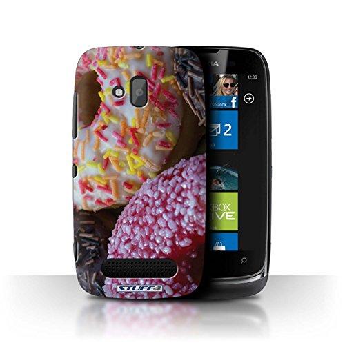 Stuff4 Hülle / Case für Nokia Lumia 610 / Rosa/Weiß Muster / Schmackhafte Donuts Kollektion