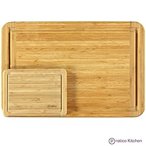 Bamboo Cutting Board and Serving Tray with Juice Groove