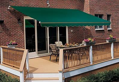 Sunsetter Retractable Awning - Motorized Pro - 12ft. (Green) (12' wide x 10' extension)